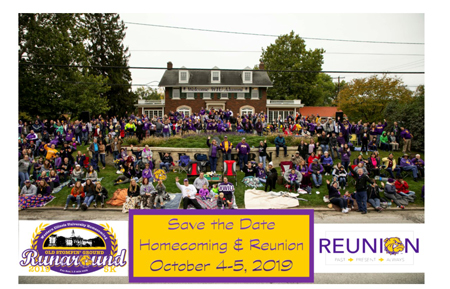 Save the Date Homecoming & Reunion October 4-5, 2019