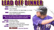 Baseball Lead Off Dinner