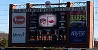 Scoreboard photo of WIU win
