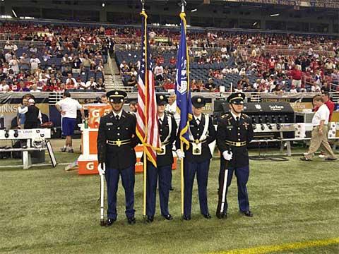 WIU ROTC Color Guard