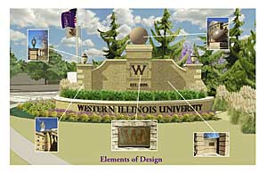 WIU Entrance Sign