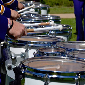 Marching Leathernecks drum line