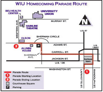 Homecoming Parade Route