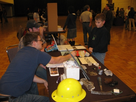 Club members and child at Geodeland Show