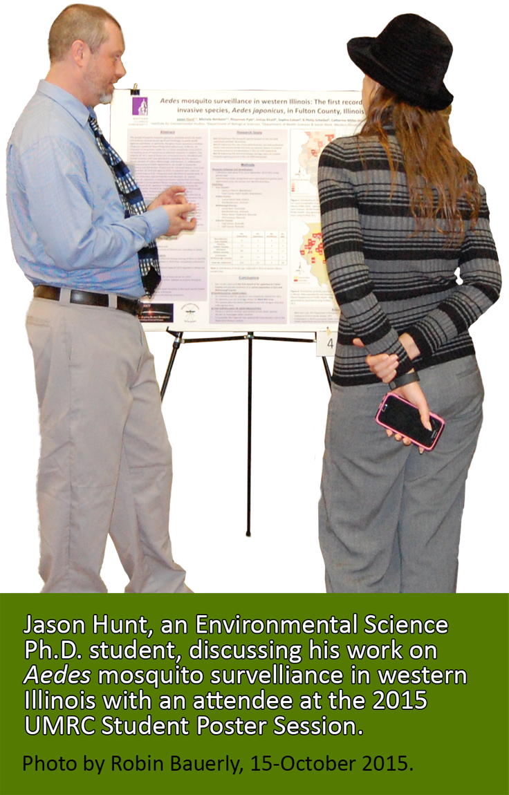Jason Hunt, an Environmental Science Ph.D. student presenting his research at the 2015 UMRC