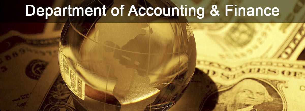 Department of Accounting and Finance