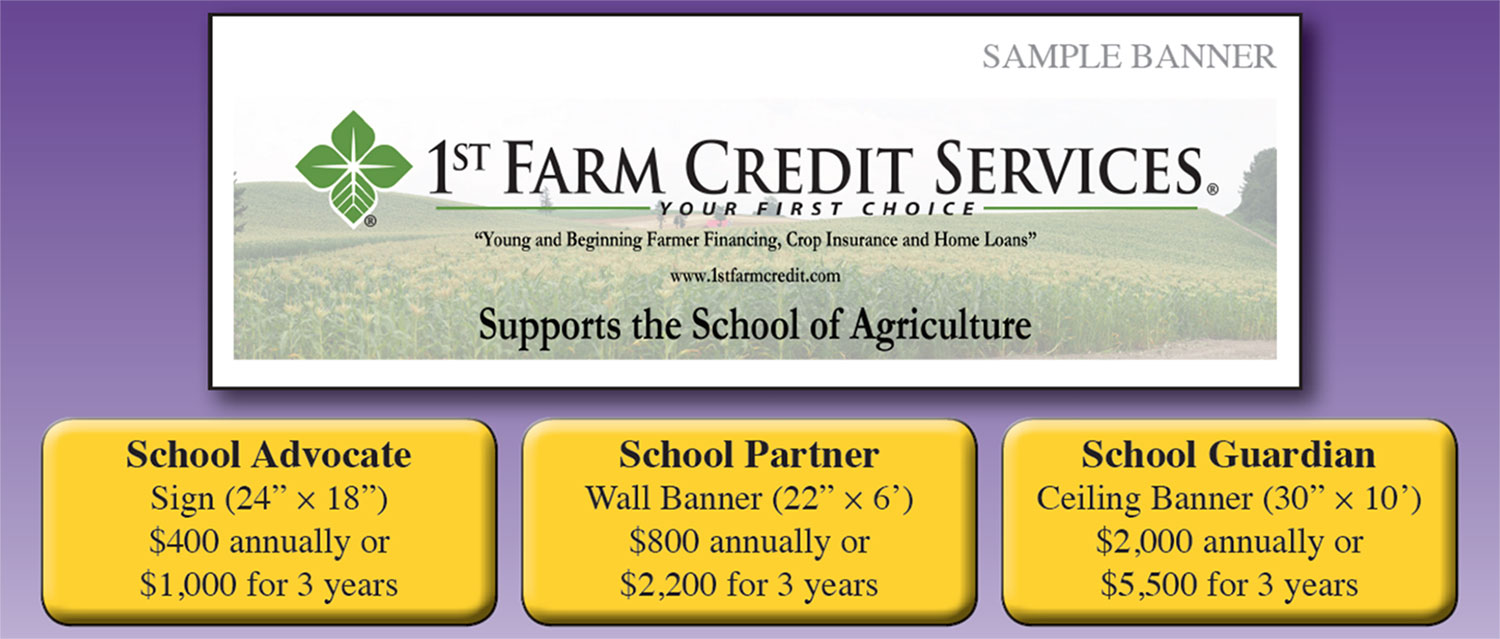 sample banner to support the school of ag