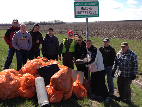 WICMA and rotary club members clean up highway