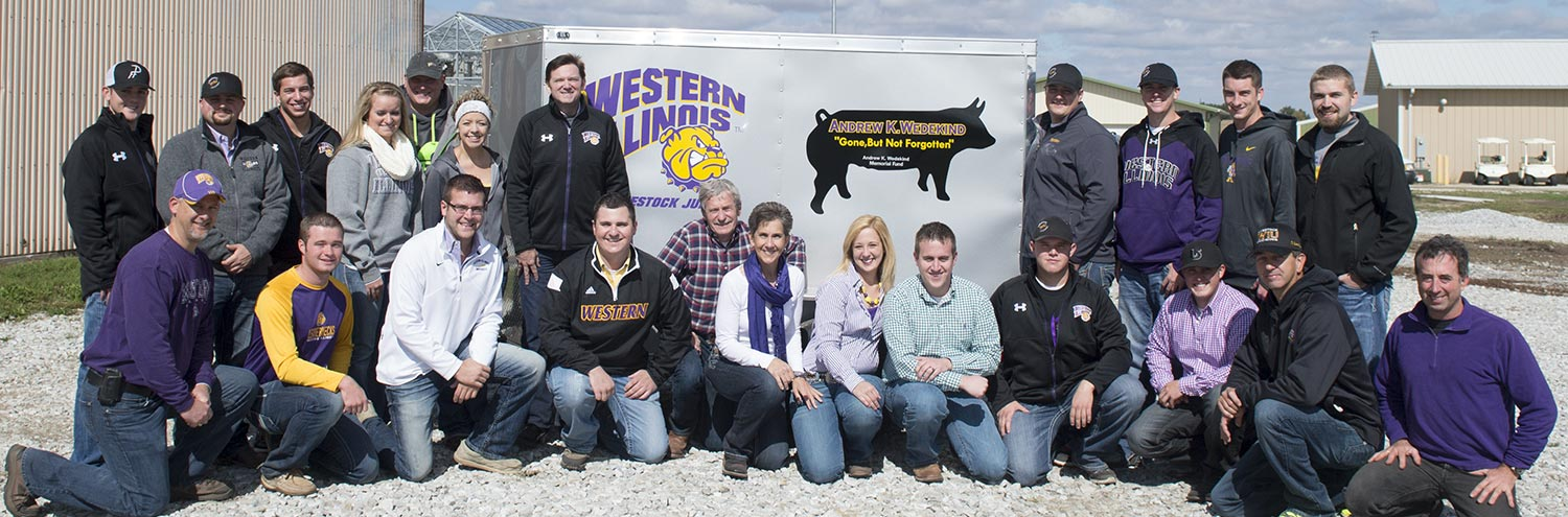 Livestock Judging Team and Donated Trailer