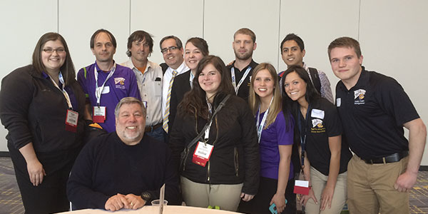 SCM students and faculty with Steve Wozniak
