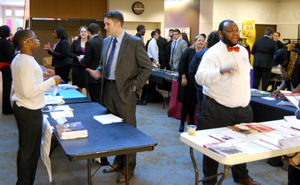 Table fair at Pre-Law Symposium