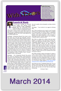 March 2014 Honors Newsletter