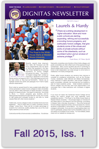Fall 2015 Honors Newsletter, Issue 1
