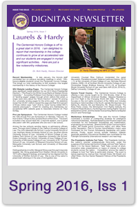 Spring 2016 Honors Newsletter, Issue 1