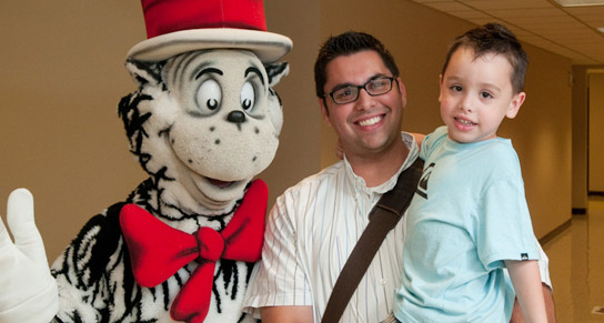 Cat in the Hat with man and boy