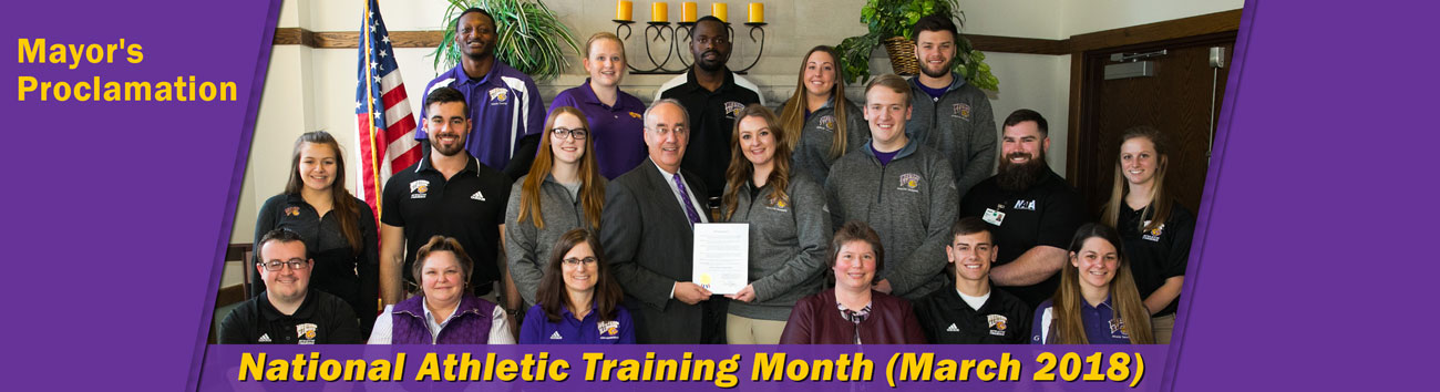 Mayor's Proclamation for National Athletic Training Month (March 2018)