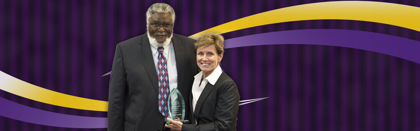 Photo of Dean Smith with Mary Vacala