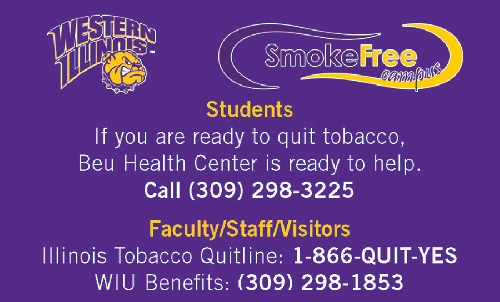 Effective July 1, Western Illinois University will become smoke-free as part of the state-mandated Illinois Smoke-Free Campus Act.