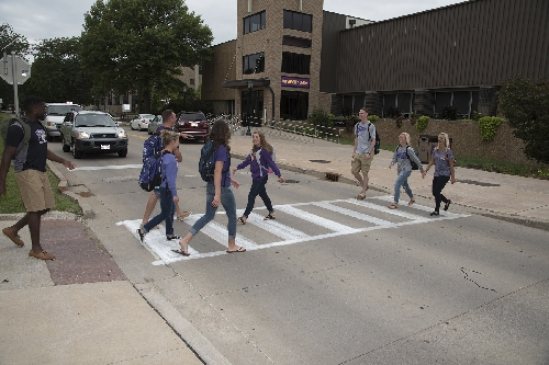 Motorists need to slow down, stop and yield to pedestrians in marked and unmarked crosswalks.