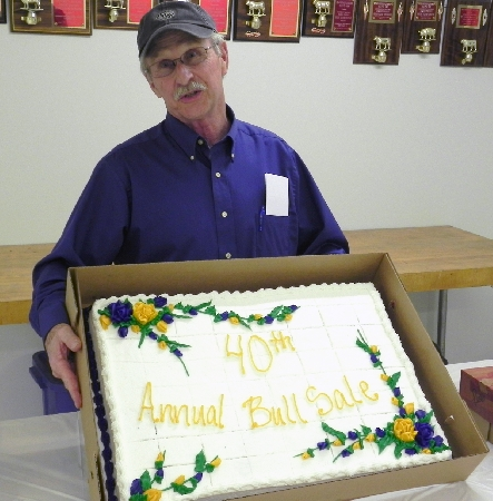 Services for Western Illinois University School of Agriculture Faculty Emeritus Kenneth O. Nimrick (Stronghurst, IL) will be held at 10:30 a.m. Wednesday, Aug. 24 at the Banks & Beals Funeral Home in Stronghurst (IL). Visitation will be held from 5-8 p.m. Tuesday, Aug. 23 at the funeral home.Nimrick is pictured here in 2012, when the School of Ag was celebrating the 40th Annual Performance Tested Bull Sale.