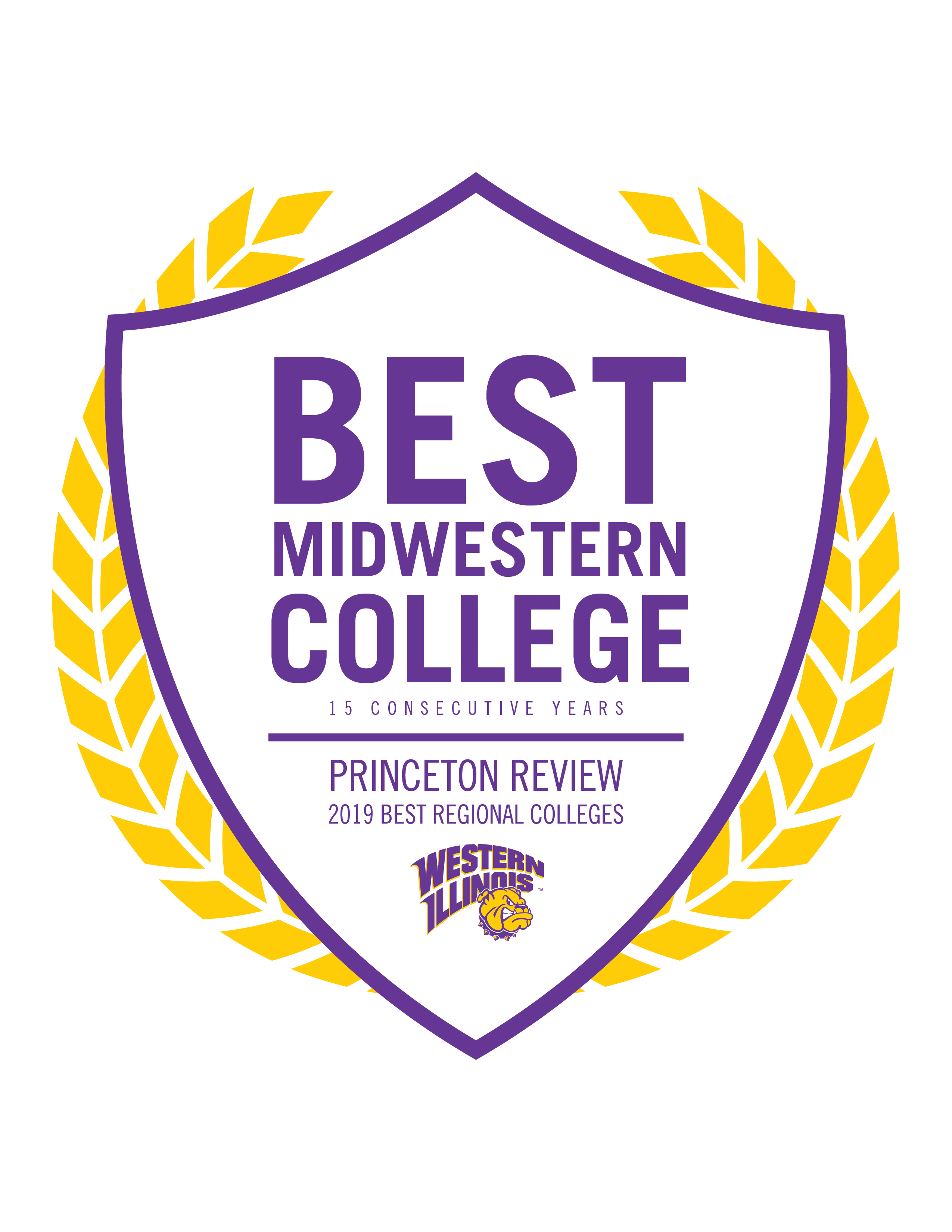 Princeton Review Best Regional Colleges, 15 consecutive years