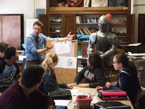 WIU alumnus Marc Nelson infuses social justice issues into the art classes of his middle school students.