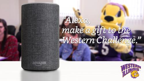 ''Alexa, make a gift to the Western Challenge''