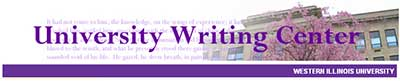 University Writing Center web site header