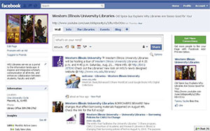 Screenshot of libraries facebook page