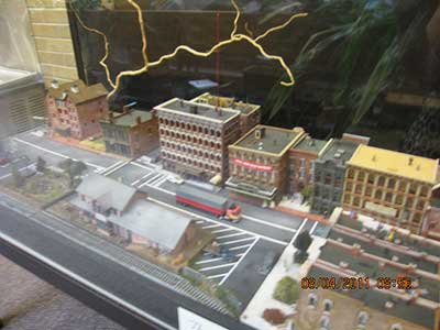 Photo - scale model of Gandalf city.
