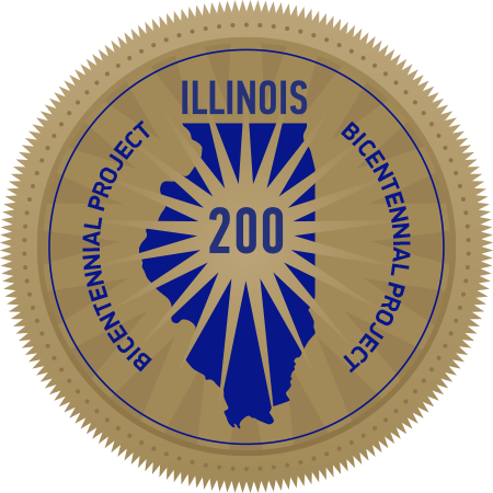 Image of Official Seal of Illinois Bicentennial Project Website