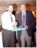 Dave Boocker, Chair of WIU English Department and John Hallwas