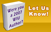 Please let us know if you are a WIU author who published in 2007.
