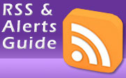 RSS icon with the text RSS & Alerts Guide