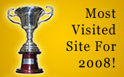 Image of a trophy with the text Most Visited Site For 2008!