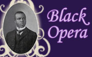 Black and white photo of Scott Joplin with the text Black Opera.