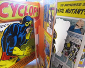 Photo of a popup graphic novel.