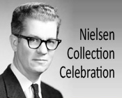 Photo of Maurice Nielsen and the text Nielsen Collection Celebration