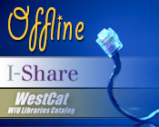 Photo of an Ethernet cable and the text I-Share & WestCat Offline