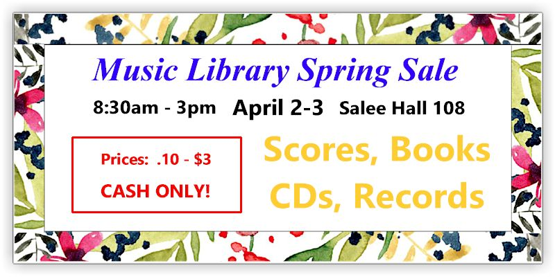 Image of Music Library Spring Sale Promo