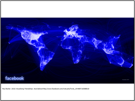 Paul Bulter's 2010 visualization of Facebook friendships.