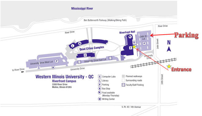 WIU-Quad Cities Discover Western Parking