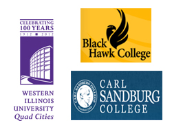 WIU-QC, Black Hawk College, and Carl Sandburg College MAP 2+2 program.