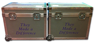 Photo of two curriculum cases.
