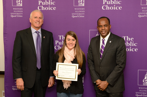 Claire Chouinard, WIU Commitment Scholarship - October 4, 2012