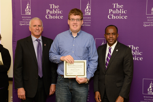 Kieran Connolly, WIU Commitment Scholarship - October 4, 2012