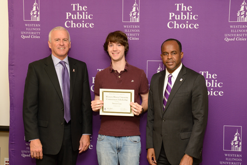 Steven Case,  WIU Commitment Scholarship - October 4, 2012