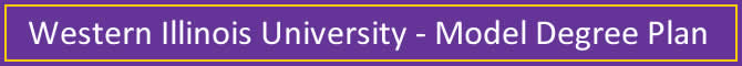 Western Illinois University Model Degree Plan