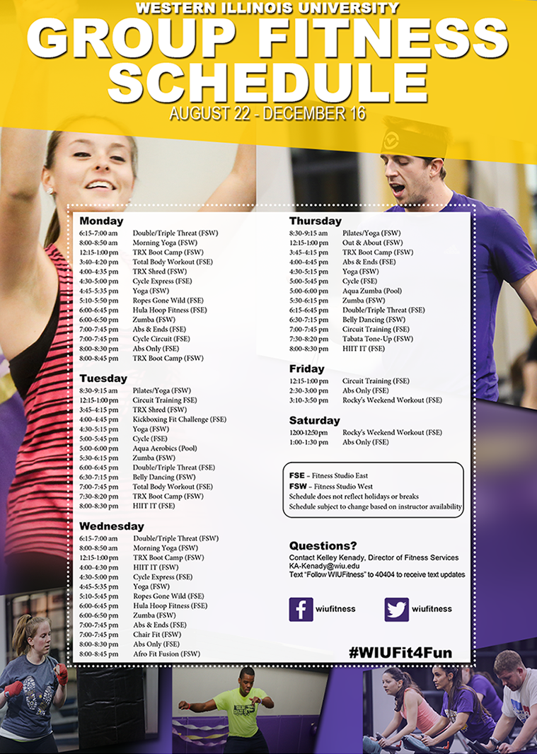 Group Fitness Schedule Fall 2016