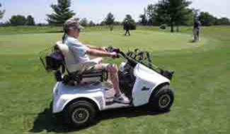 Driving accessible golf cart